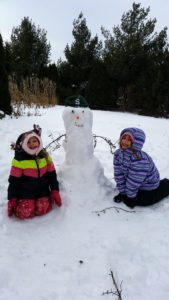 2 kids and a snowman for the snowman story, The Special Snowman.