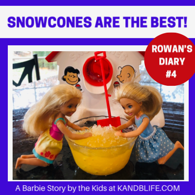 Featured Image for the Barbie Story with 2 Chelsea Dolls eating snow cones.