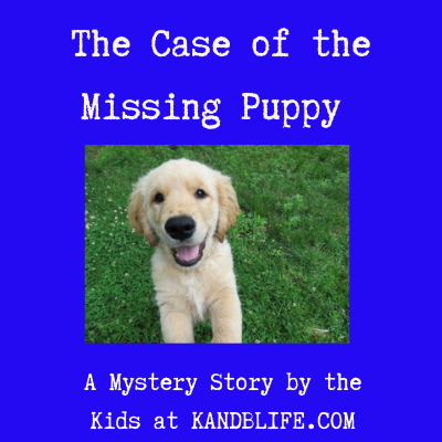 Picture of a puppy for the mystery story for kids.
