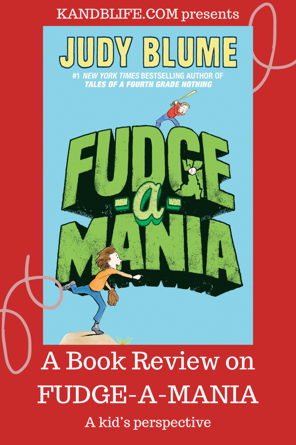 Blue book cover for Fudge-A-Mania by Judy Blume.
