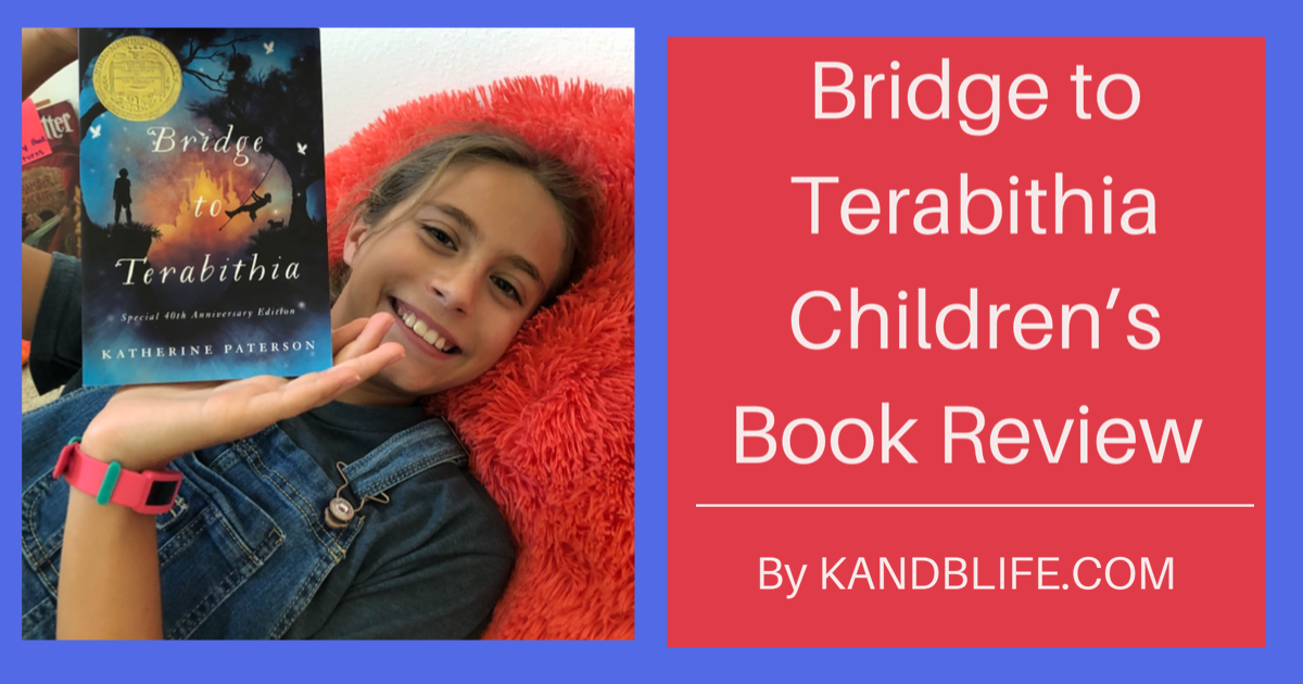 Cover for a children's book review on Bridge to Terabithia.