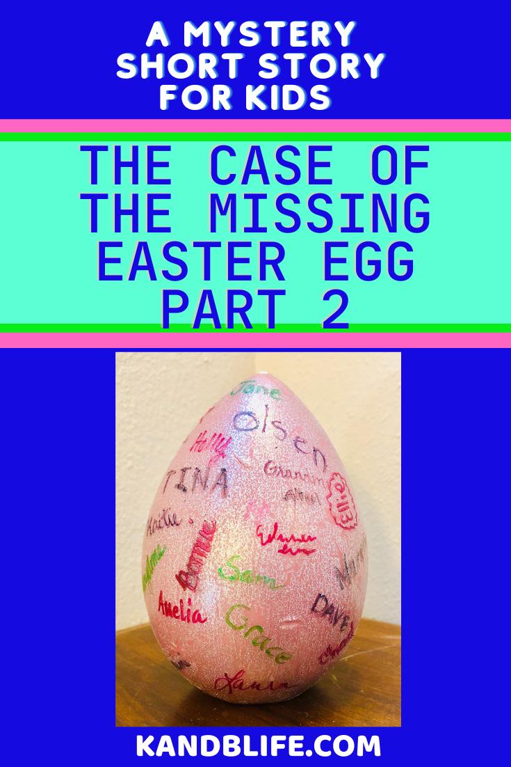 Easter egg Image for the Mystery Short Story for Kids