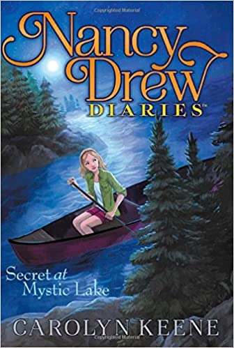 Cover of the book Secret at Mystic Lake by Carolyn Keene from the Nancy Drew Diaries Series