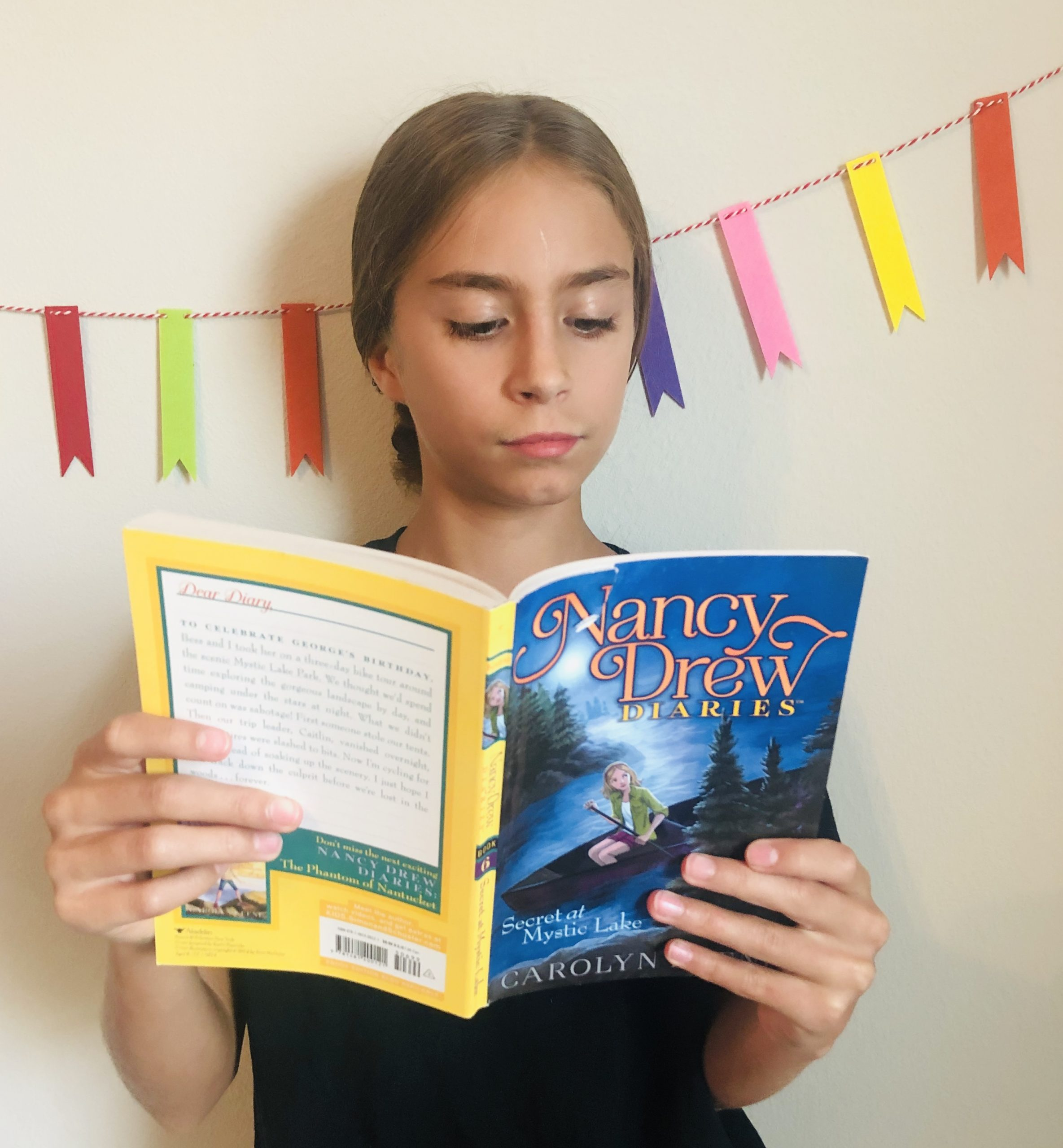 Book Review from the Nancy Drew Diaries called Secret at Mystic Lake by Carolyn Keene.