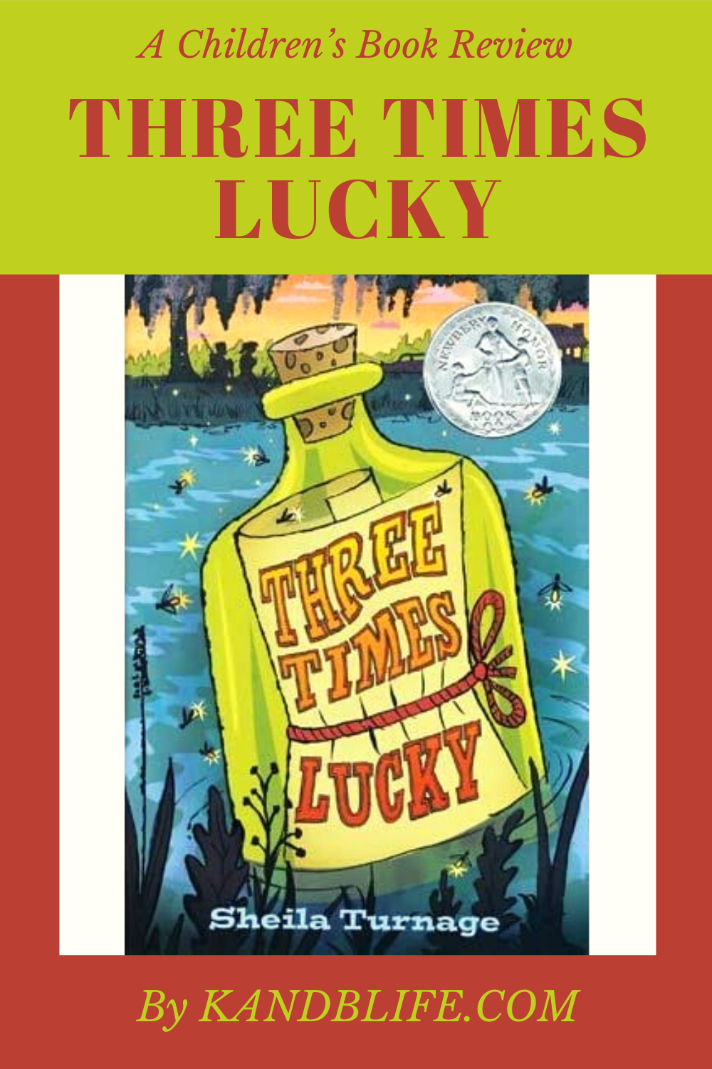 Book Cover for the Children's Book Review of Three Times Lucky by Sheila Turnage.