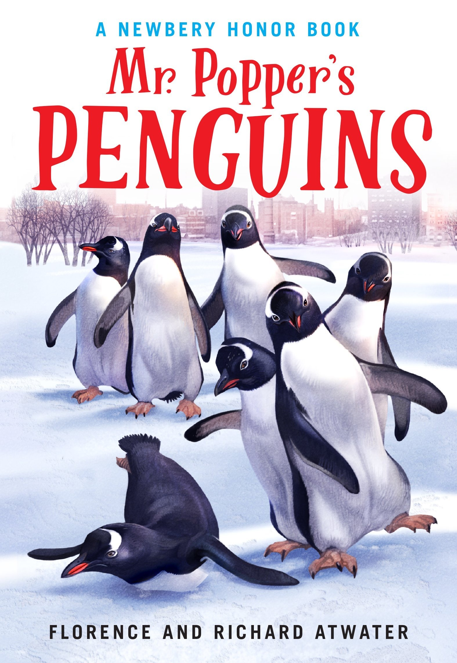Book cover of Mr. Popper's Penguins by Florence and Richard Atwater