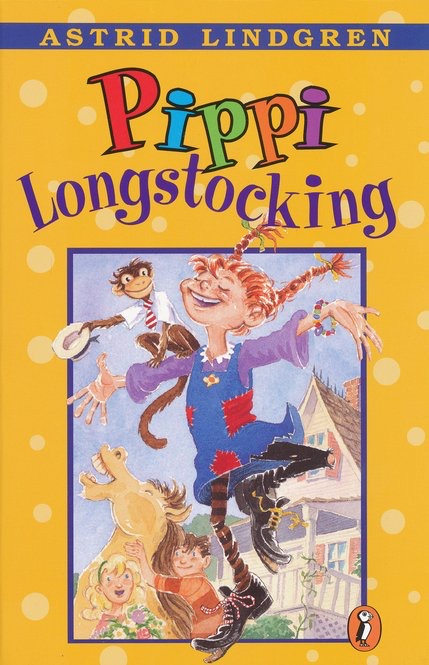 Pippi Longstocking Book Cover by Astrid Lindgren for a children's Book Review