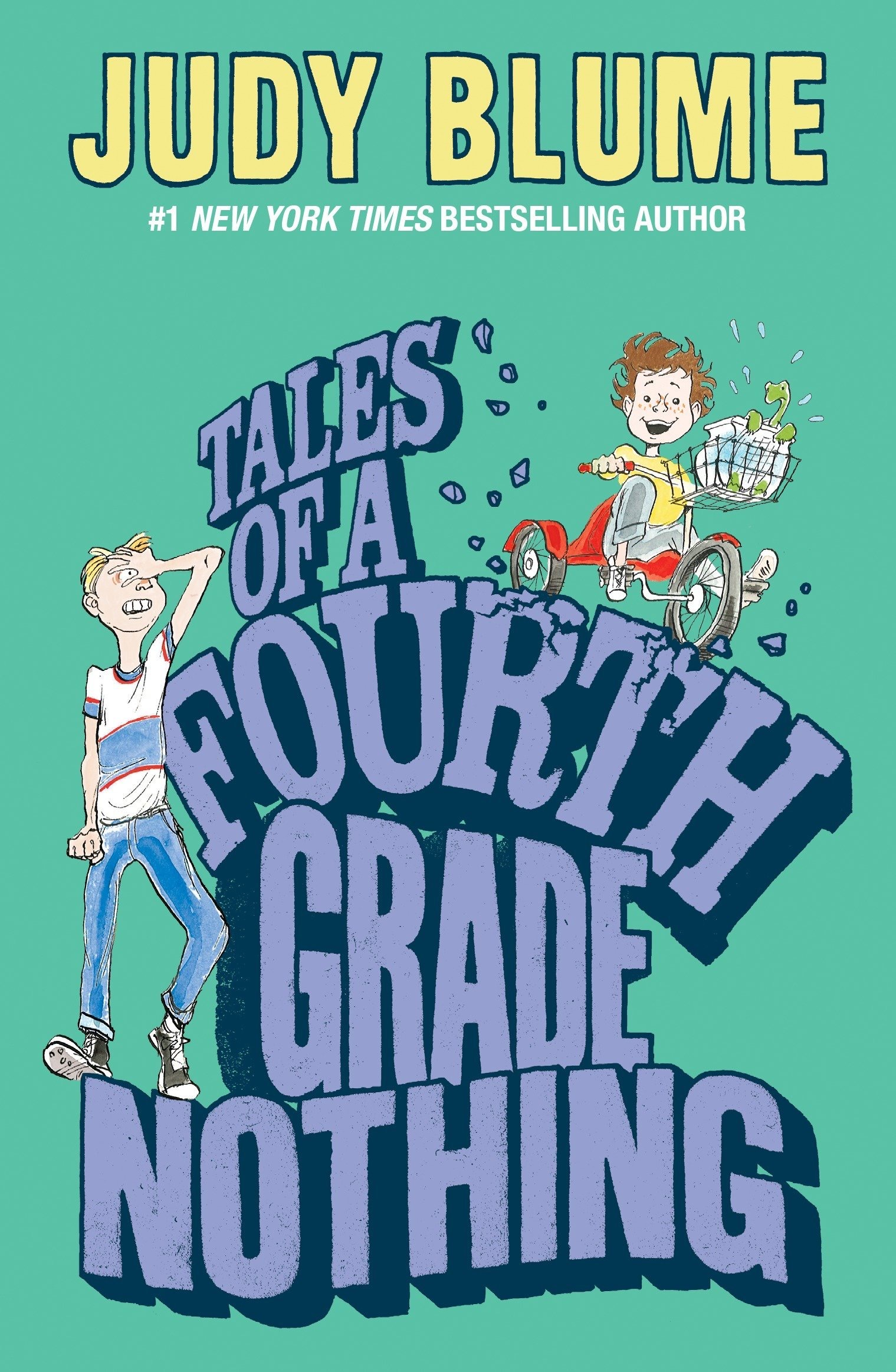 Tales of a Fourth Grade Nothing Book cover by Judy Blume for a children's book review.