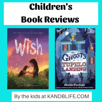 Book Covers of Wish and The Ghosts of Tupelo Landing for the Children's Book Reviews.
