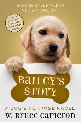 Picture of a golden retriever puppy for Bailey's Story by Bruce Cameron Book Cover.