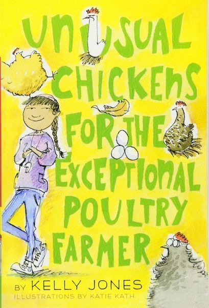 Book cover Unusual chickens for the Exceptional Poultry Farmer for the a book review by K and B Life.