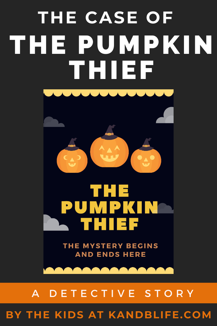 Book cover for the detective story, The Pumpkin Thief.