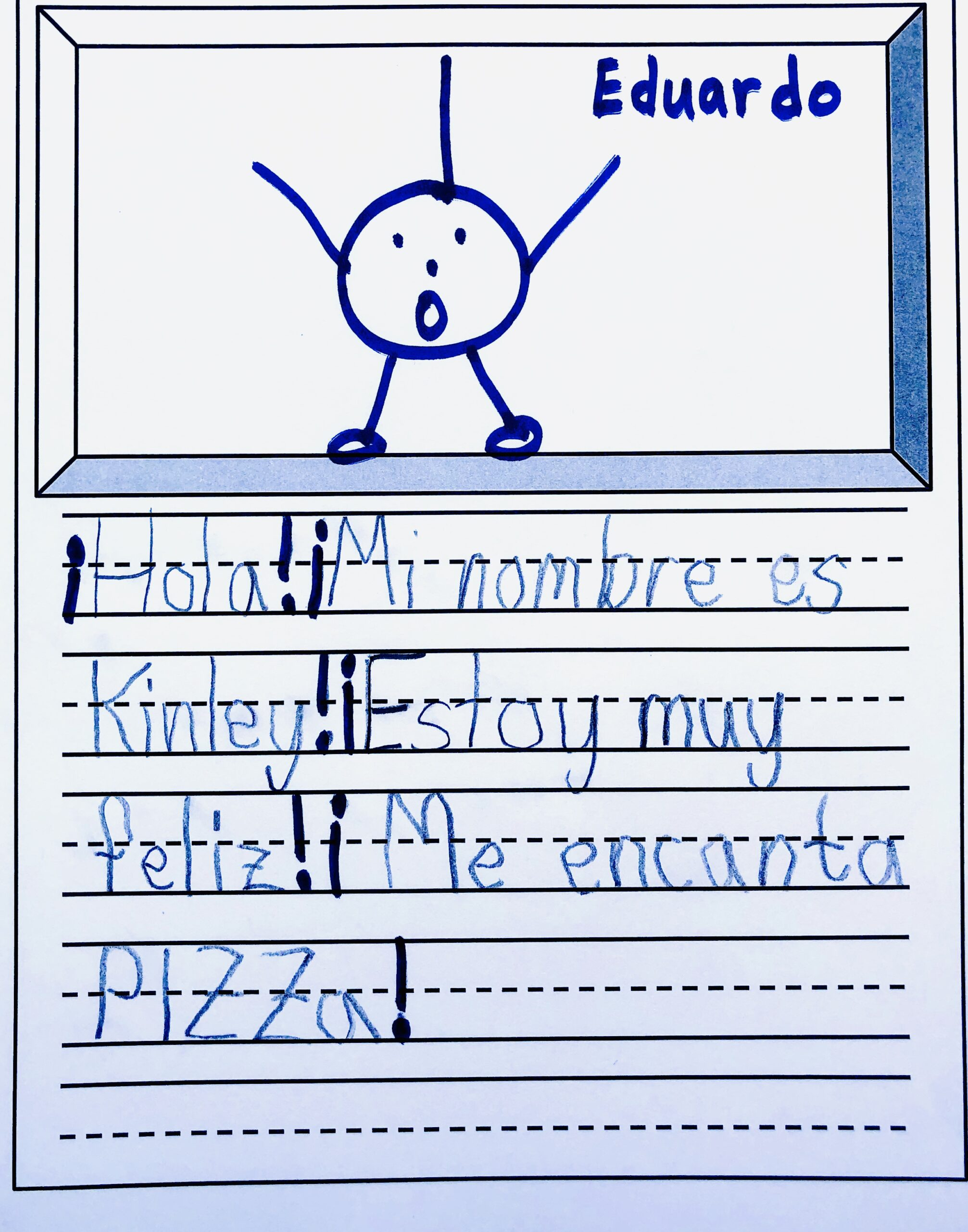 From the Spanish short story, Eduardo the exclamation point!