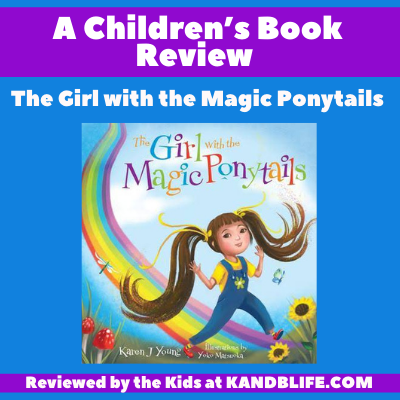 Featured Image for Book Review on The Girl with the Magic Ponytails