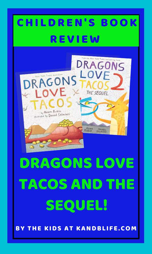 Cover for the children's Book Review on Dragons Love Tacos.
