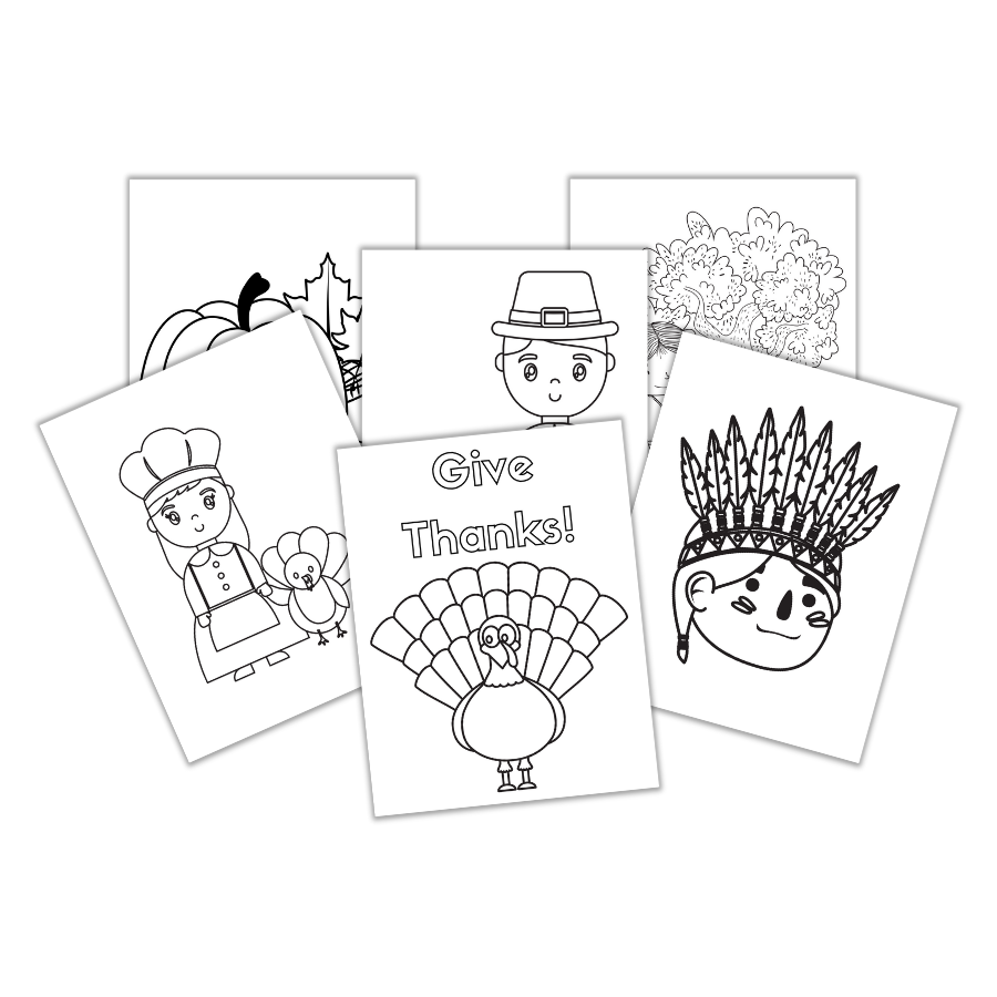 Thanksgiving coloring pages.