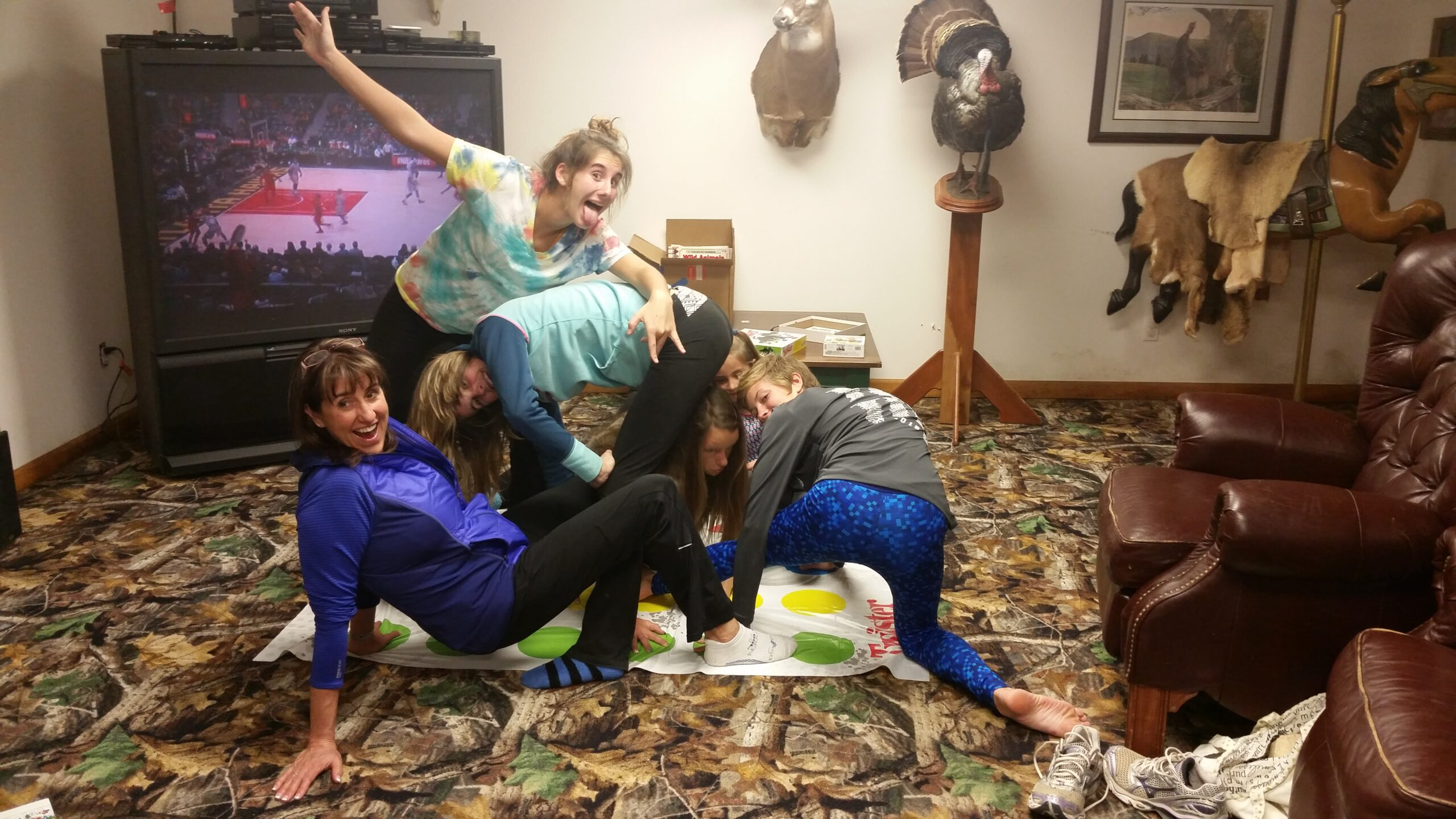 The game Twister for a holiday story, The Best Thanksgiving Ever!