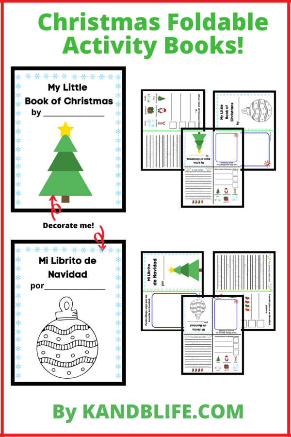 Christmas Activity Foldable Booklet.