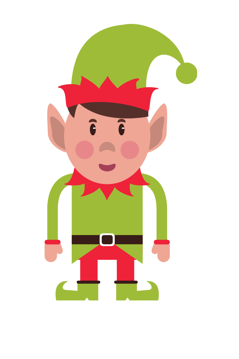 Bimj, an elf in the Christmas story, Santa's Workshop.