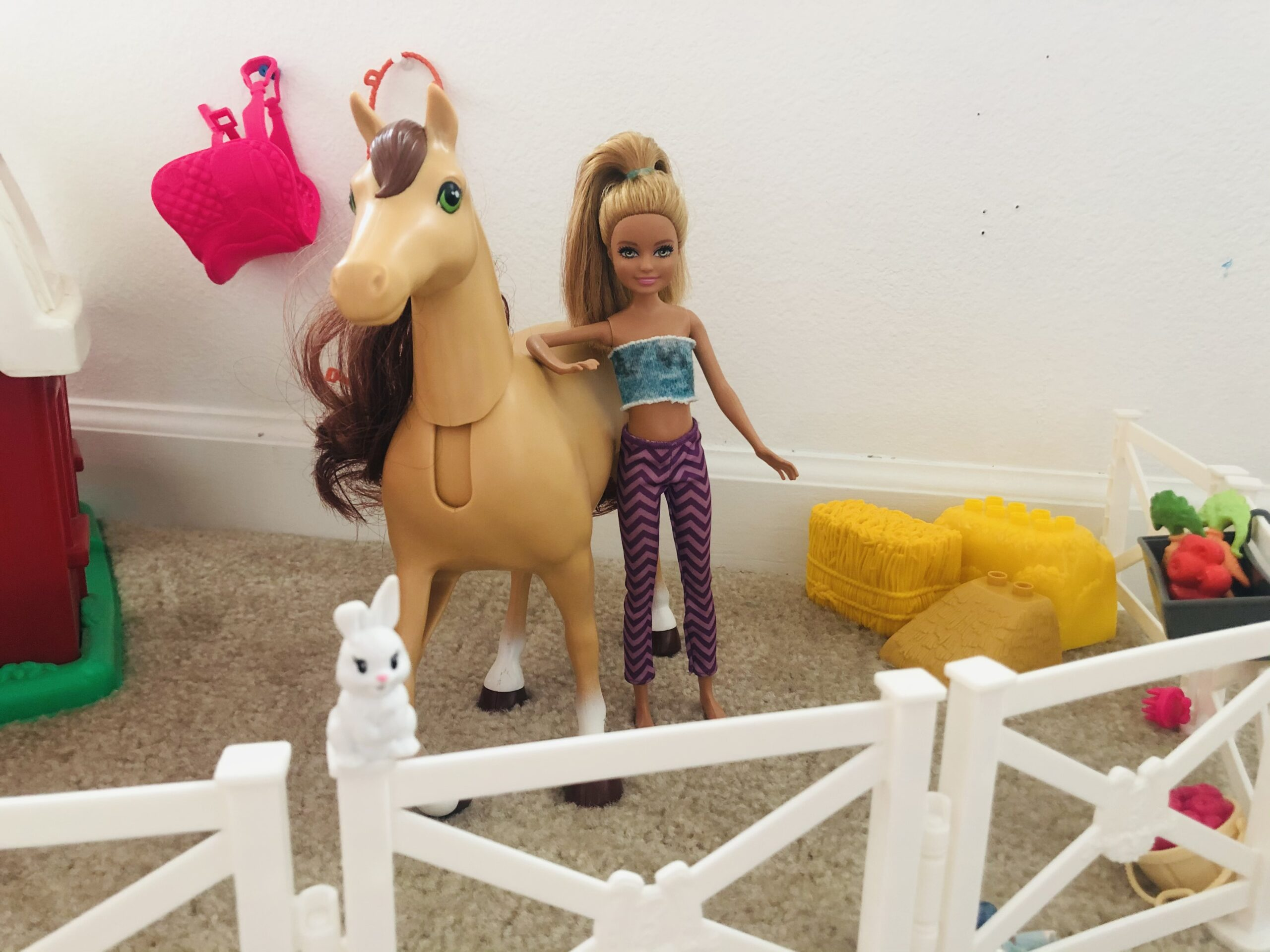 A Stacie Doll and a horse for the Barbie doll short story, Riding With The Volkswaggon's!