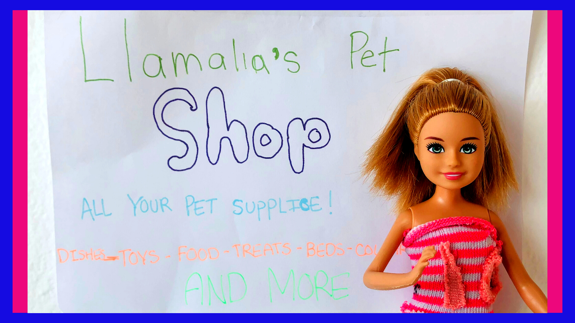 Llamalia's Pet Care in Barbie Stories for Kids, The Crazy Kramer's.