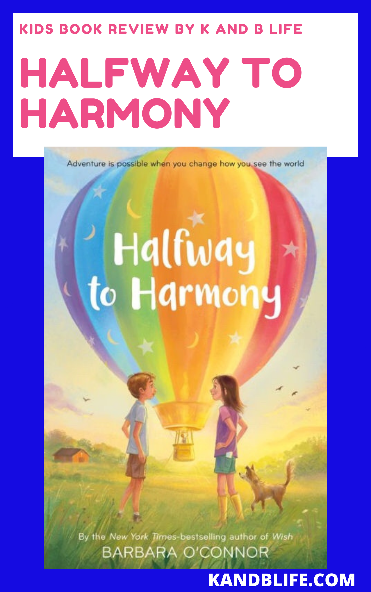 Kids Book Review coverer Halfway to Harmony