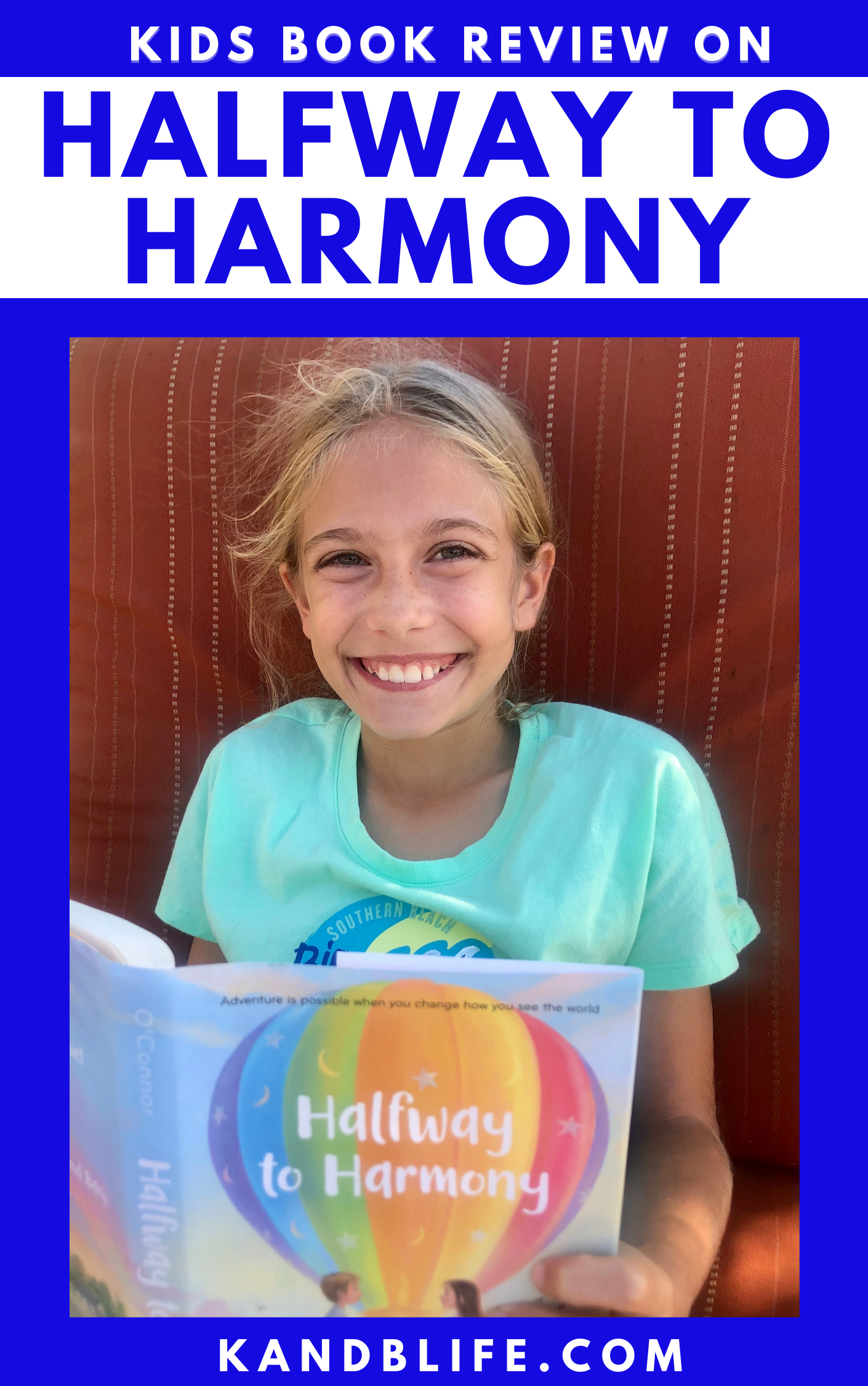Kids Book Review cover for Halfway to Harmony