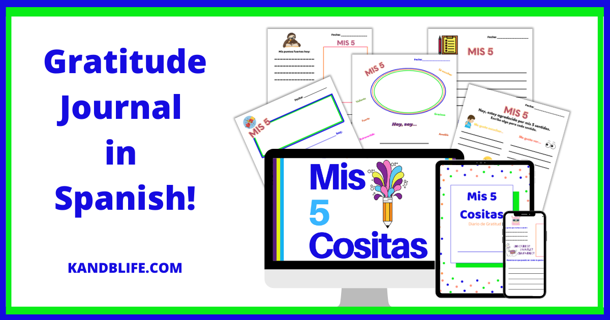 Spanish Gratitude Journal for Kids