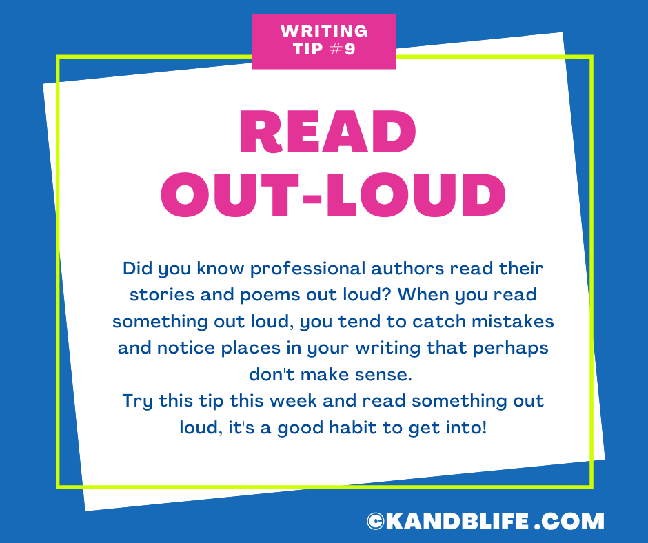 Writing Tip to Read Out-Loud