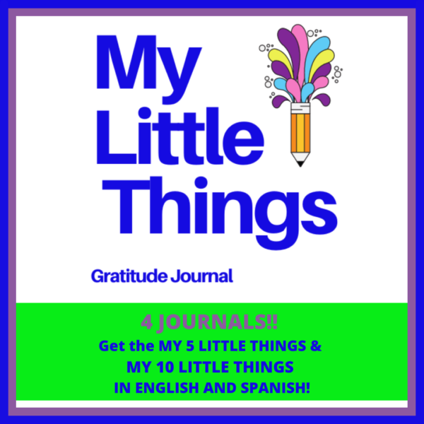 Gratitude Journal pages for kids called My Little Things