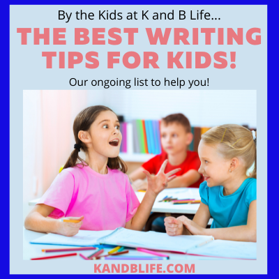 A girl looking excited for the The Best Writing Tips for Kids (By Kids) Article.