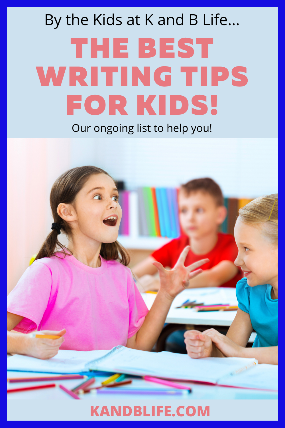 A girl looking excited for the The Best Writing Tips for Kids Article.
