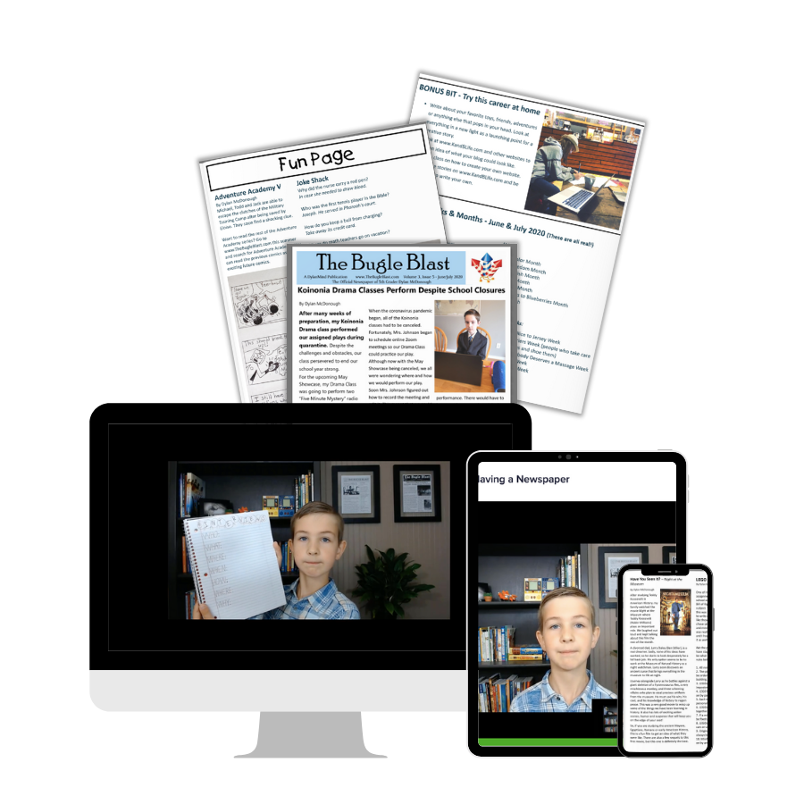 Homegrown Newspaper Video Writing Course promotion.