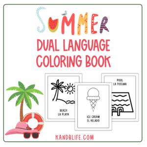 Spanish Dual Language Summer Coloring Book