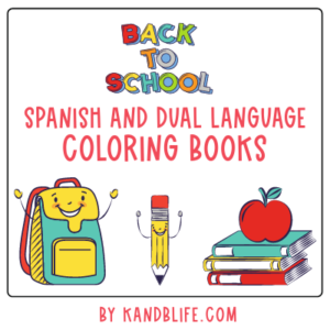 Cover for Back to School Spanish and Dual Language Coloring Pages by Kandblife.com (https://kandblife.com)