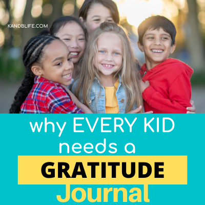 Why Every Kid Needs a Gratitude Journal Article. Picture of kids being happy and hugging. https://kandblife.com
